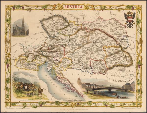 53-Austria Map By John Tallis