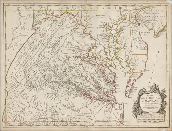49-Mid-Atlantic and Southeast Map By Gilles Robert de Vaugondy