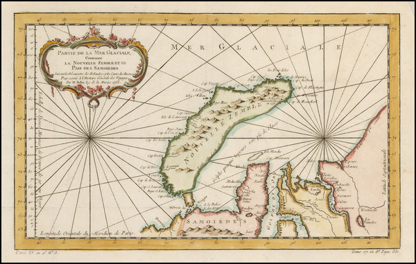 41-Polar Maps and Russia Map By Jacques Nicolas Bellin