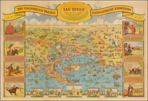 44-San Diego Map By Don Bloodgood