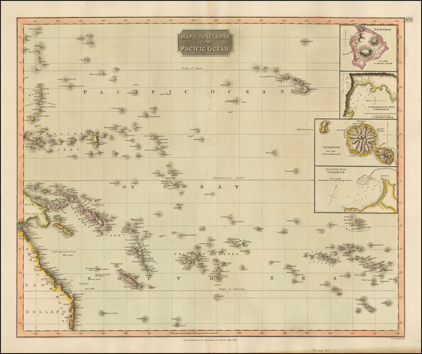 41-World, Pacific, Oceania, Hawaii and Other Pacific Islands Map By John Thomson