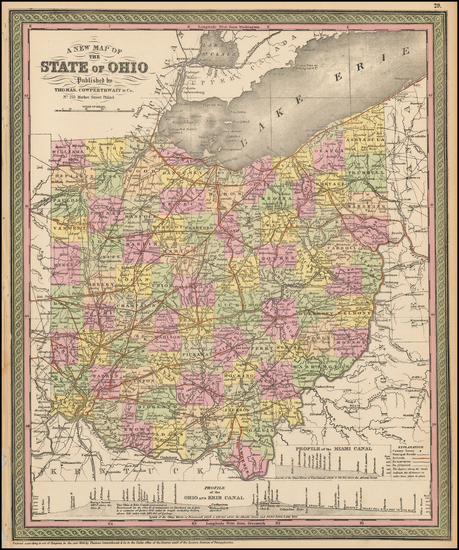 78-Midwest and Ohio Map By Thomas, Cowperthwait & Co.