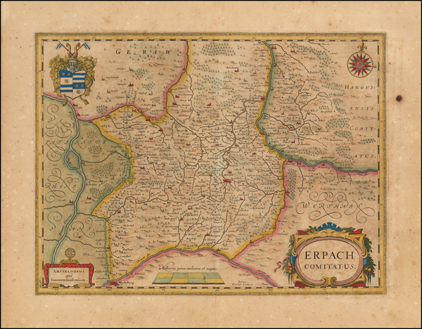 82-Germany Map By Willem Janszoon Blaeu