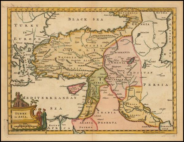 21-Turkey, Cyprus and Turkey & Asia Minor Map By Thomas Jefferys