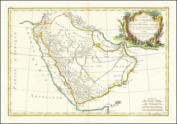 75-Middle East and Arabian Peninsula Map By Jean Lattre