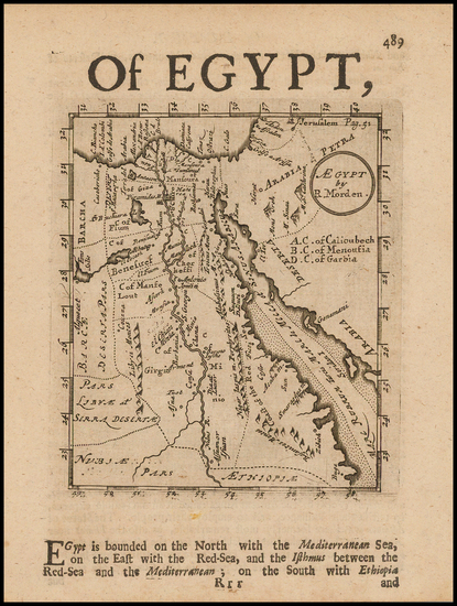 Egypt Map By Robert Morden