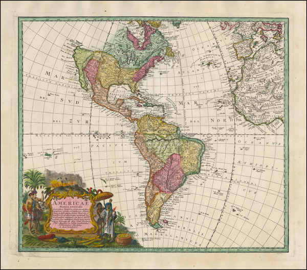 51-America Map By Homann Heirs / Johann Matthaus Haas