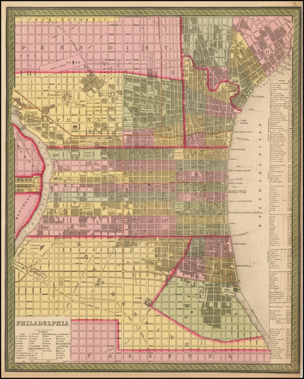 41-Philadelphia Map By Thomas, Cowperthwait & Co.
