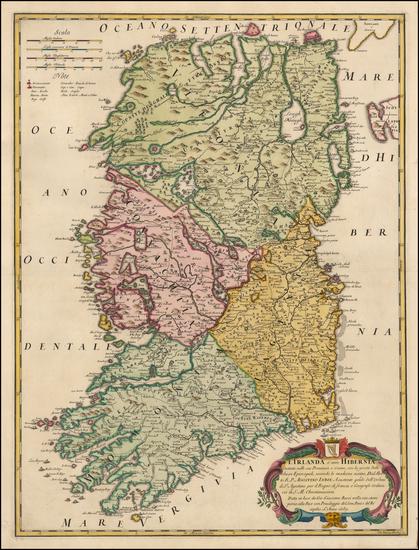 Ireland Map By Giacomo Giovanni Rossi - Giacomo Cantelli da Vignola