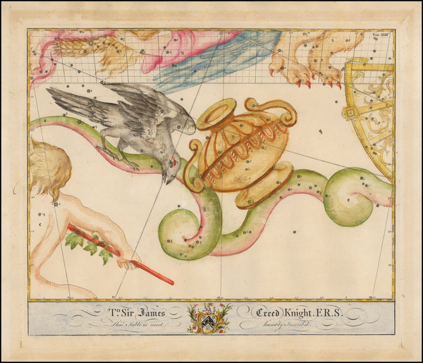 15-Celestial Maps Map By John Bevis