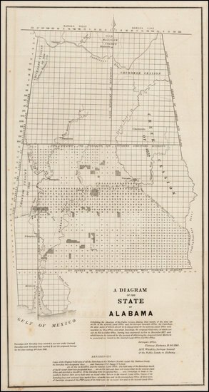 15-South and Alabama Map By General Land Office