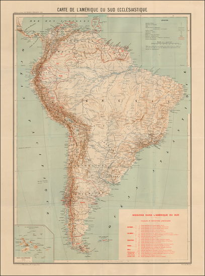 51-South America Map By Les Missions catholiques