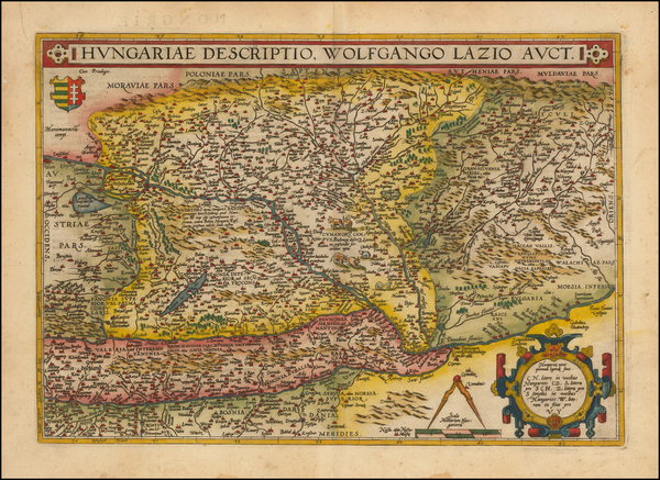 1-Austria, Hungary and Romania Map By Abraham Ortelius