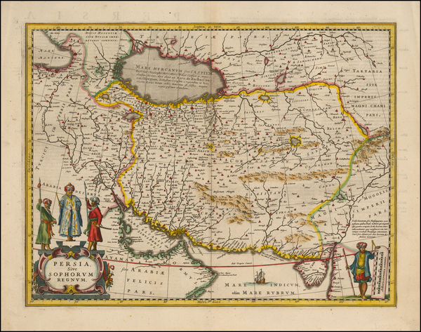 65-Central Asia & Caucasus, Middle East and Persia Map By Jan Jansson