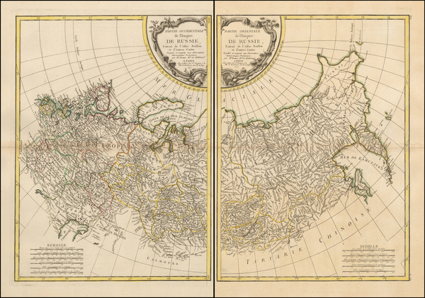 Russia and Russia in Asia Map By Jean Lattre
