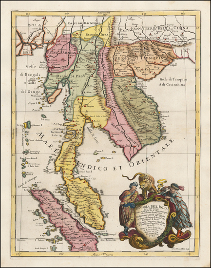 66-Southeast Asia, Singapore, Indonesia, Malaysia and Thailand Map By Giacomo Giovanni Rossi - Gia