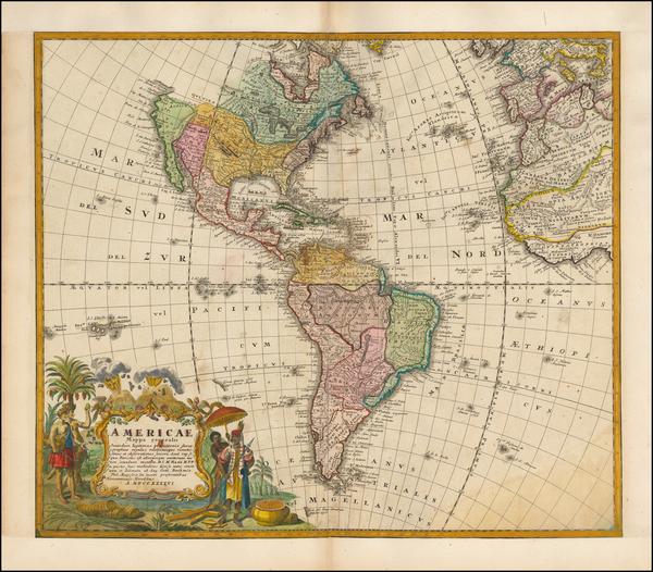 65-America Map By Homann Heirs / Johann Matthaus Haas