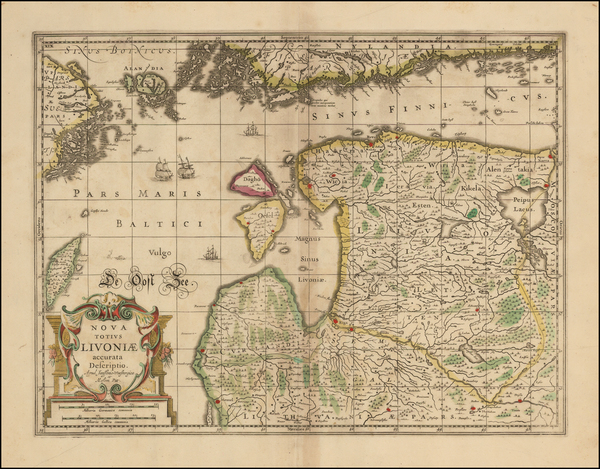 97-Baltic Countries and Scandinavia Map By Moses Pitt
