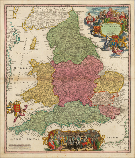 8-England Map By Johann Baptist Homann