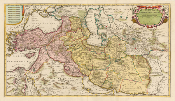100-Central Asia & Caucasus, Middle East, Persia and Turkey & Asia Minor Map By Reiner &