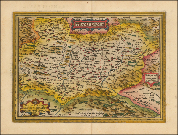 33-Romania and Balkans Map By Abraham Ortelius