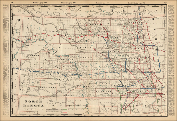 0-Plains and North Dakota Map By George F. Cram