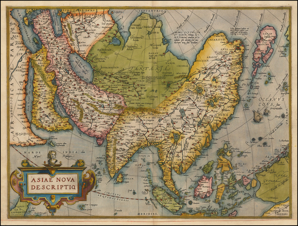 42-Asia, Asia and Oceania Map By Abraham Ortelius