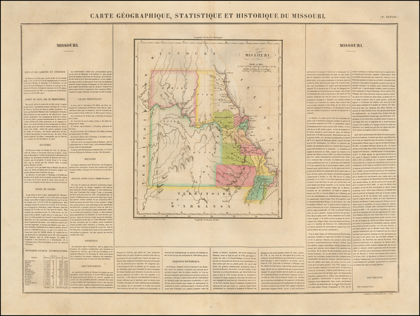 Midwest, Plains and Missouri Map By Jean Alexandre Buchon