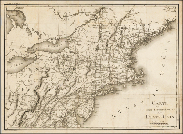 49-New England and Mid-Atlantic Map By Michel Guillaume St. Jean De Crevecoeur