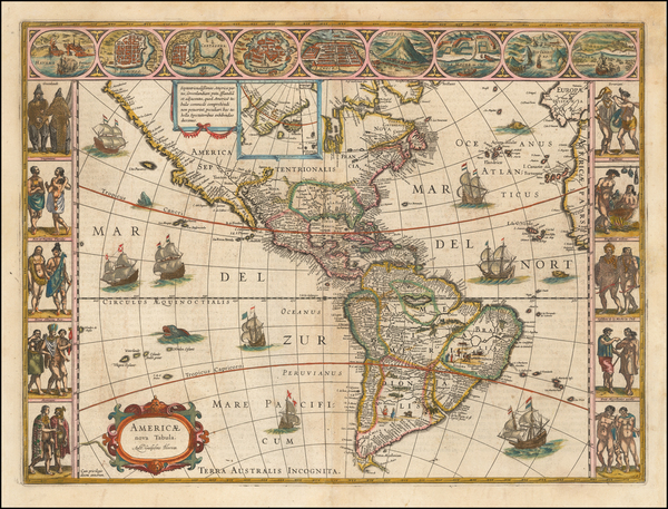 25-America Map By Willem Janszoon Blaeu