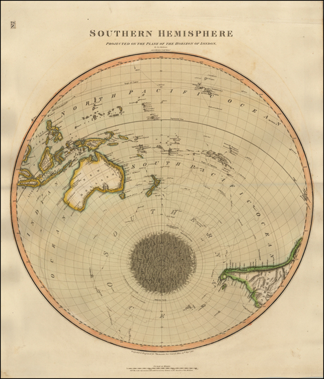 4-World, Southern Hemisphere, Polar Maps, Australia & Oceania, Oceania and New Zealand Map By