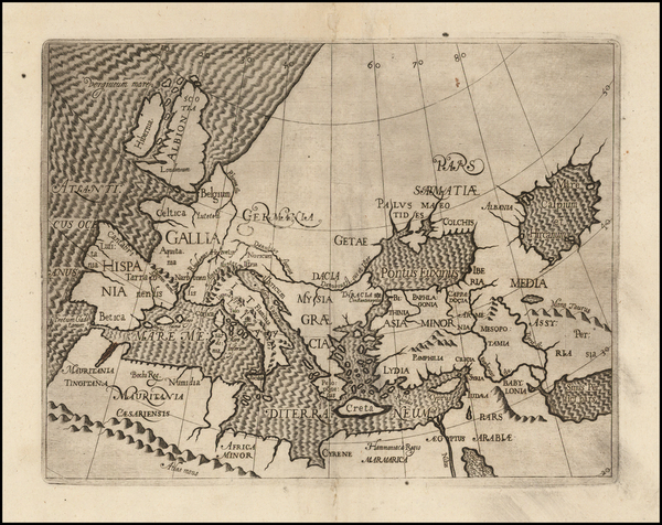 Europe, Europe, Mediterranean, Central Asia & Caucasus, Middle East and Turkey & Asia Minor Map By Anonymous