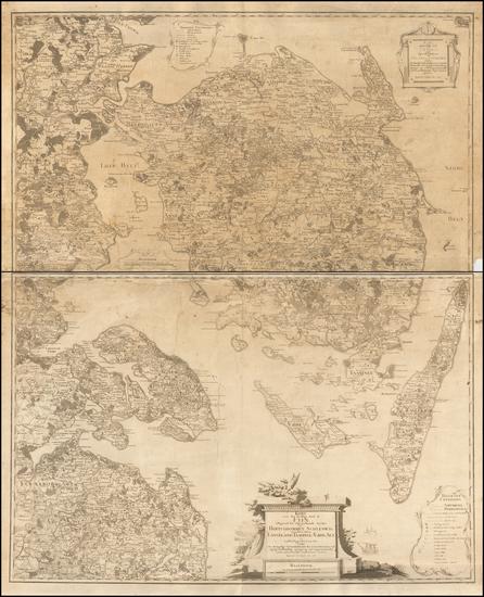 51-Denmark Map By H Skanke