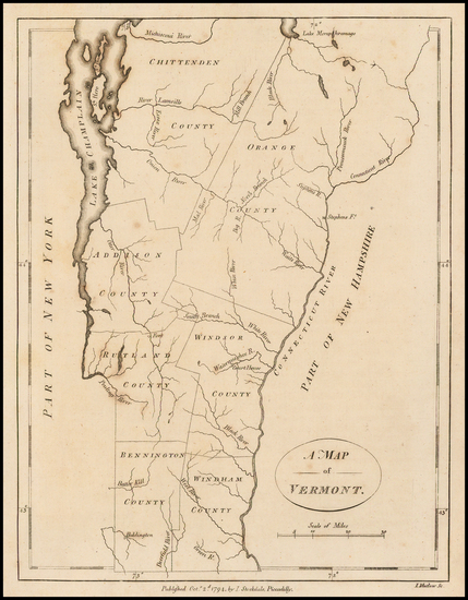 22-New England and Vermont Map By John Stockdale
