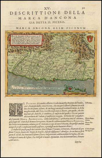 30-Italy Map By Giovanni Antonio Magini