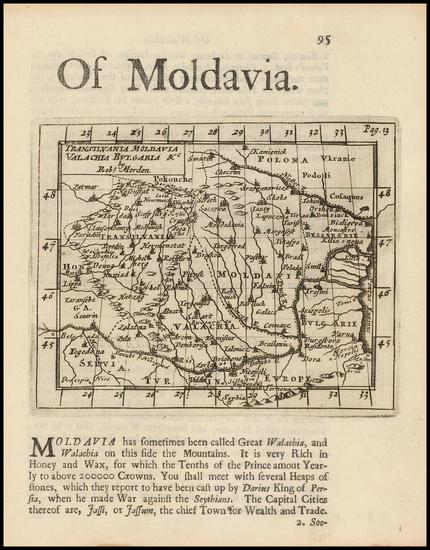 61-Romania, Balkans and Bulgaria Map By Robert Morden