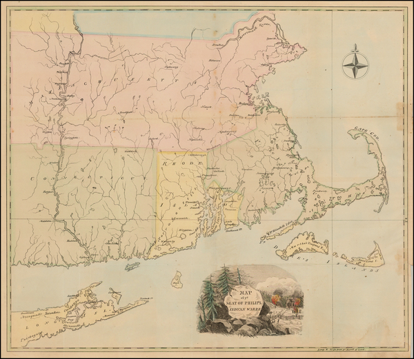 New England and Massachusetts Map By Anonymous