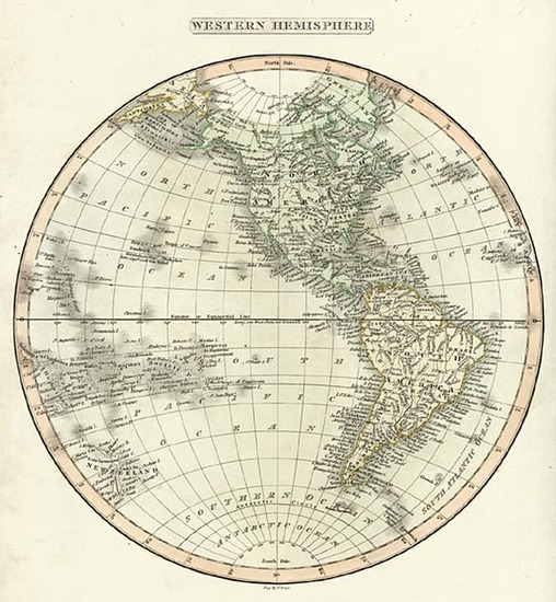39-World, Western Hemisphere, South America and America Map By Charles Smith