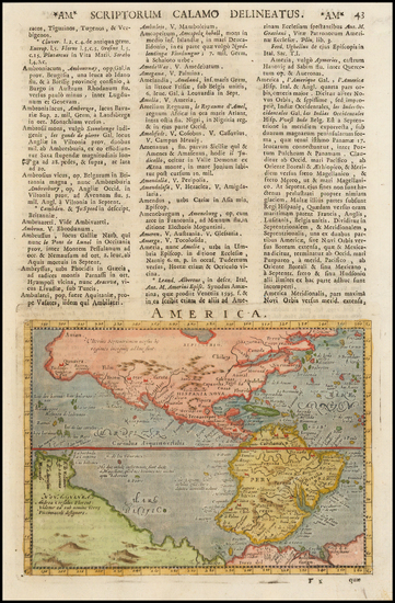 68-Western Hemisphere and America Map By Giovanni Antonio Magini