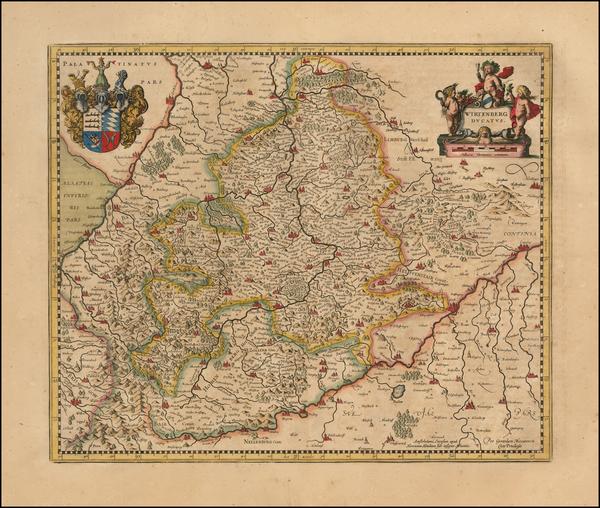 8-Germany Map By Henricus Hondius -  Gerard Mercator