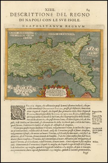47-Italy Map By Giovanni Antonio Magini