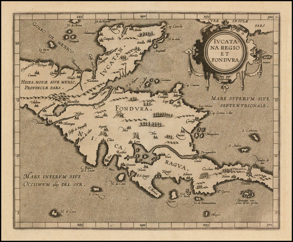 74-Mexico and Central America Map By Cornelis van Wytfliet