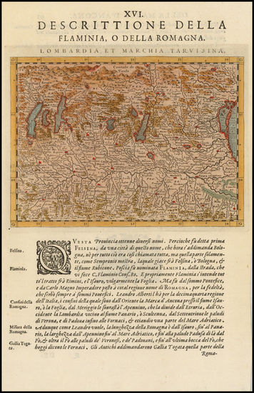 Italy Map By Giovanni Antonio Magini