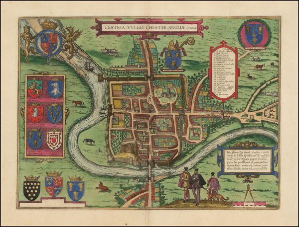 7-England Map By Georg Braun  &  Frans Hogenberg