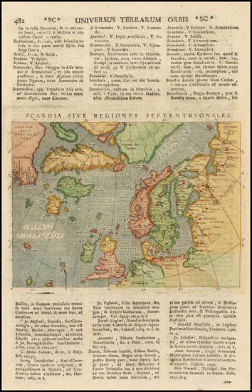 35-Polar Maps, Atlantic Ocean, Canada, Scandinavia, Iceland and Balearic Islands Map By Giovanni A