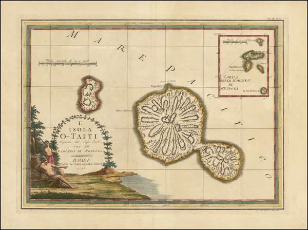 42-Other Pacific Islands Map By Giovanni Maria Cassini