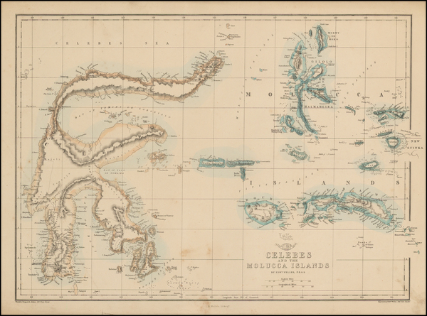 90-Southeast Asia, Indonesia and Other Islands Map By Edward Weller