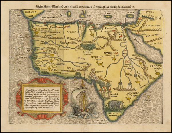 88-Africa and Africa Map By Sebastian Munster