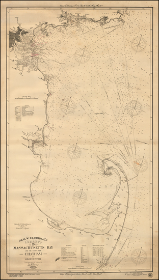 36-New England and Massachusetts Map By George Eldridge