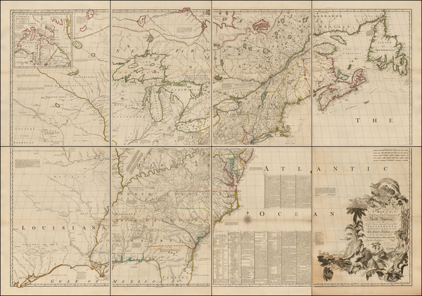 17-United States, New England, Mid-Atlantic, Southeast, Midwest and North America Map By John Mitc